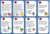 Character Traits Task Cards-  Pokémon Go- (Gr.5-8)   or Ex