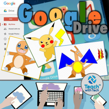 Pokemon Go Drawings using Shapes in Google Drawings BUNDLE