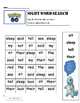 Pokémon Go ! Sight Word Search  Dolch Grade 2 Words