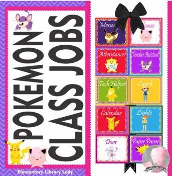 POKEMON GO Theme Classroom Jobs - EDITABLE