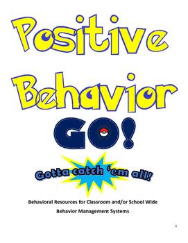 Pokemon Go Themed Positive Behavior Resources