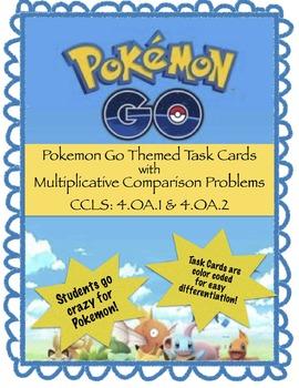 Pokemon Go - Multiplicative Comparison Word Problems