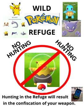 Pokemon No Hunting Sign
