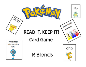 Pokemon Read it, Take it Card Game r blends