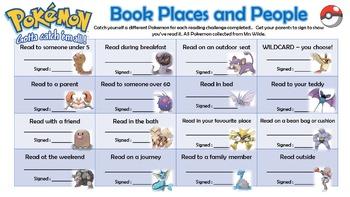 Pokemon Reading Challenges