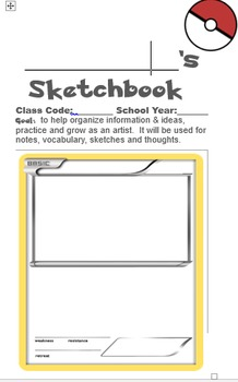 Pokemon Themed Art Sketchbook / Data Notebook