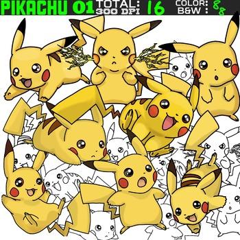 Pokemon clipart - Pikachu 01