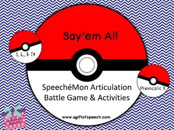 SpeecheMon Articulation Game