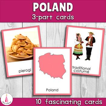 Poland Montessori 3-part cards