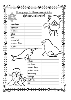 Polar Animals Alphabetical Order