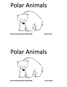 Polar Animals Arctic Animals Pack:  Books, Writing, Activi