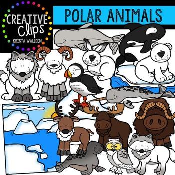 Polar Animals Clipart {Creative Clips Clipart}