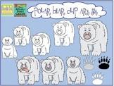 Polar Bear Characteristics Clip Art Set