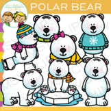 Winter Polar Bear Clip Art