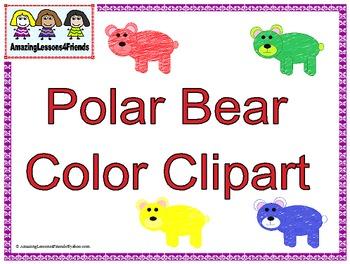 Polar Bear Color Clipart