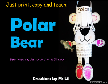 Polar Bear Craft  ::  Polar Bear Activity  ::  Polar Bear