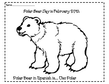 Polar Bear Day Activities