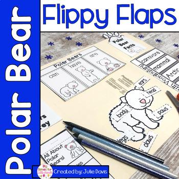 Polar Bear Flippy Flaps Interactive Notebook Lapbook