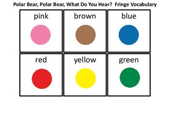 Polar Bear Fringe Vocabulary