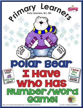 Polar Bear I Have Who Has Numbers Game - Number Words and