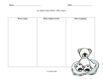 Polar Bear KWL Chart (Version 2)