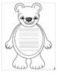 Polar Bear Shape Book with Primary Lines & Bonus Movable,