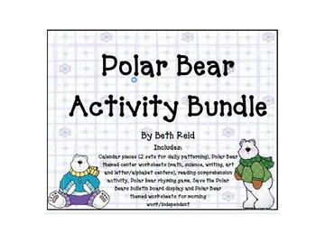 Polar Bear Themed Activites Bundle
