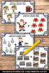 Christmas Math Addition Facts Task Cards Kindergarten Game