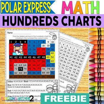 Polar Express Hundreds Chart Freebie
