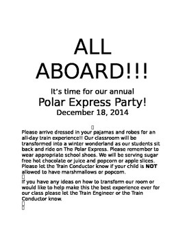 Polar Express Invitation