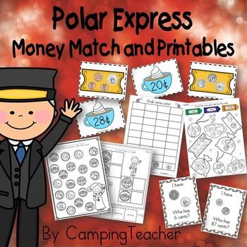 Polar Express Money Match and Printables