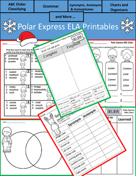 Polar Express No Prep Printables - English Language Arts