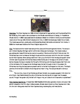 Polar Express - Review Article History Book Movie Question