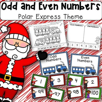 Polar Express Themed Odd and Even Numbers Math Center for