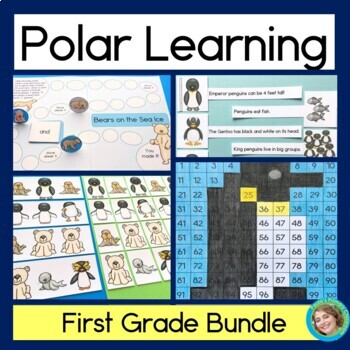 Polar Learning Bundle -1st grade (Telling time patterns nu