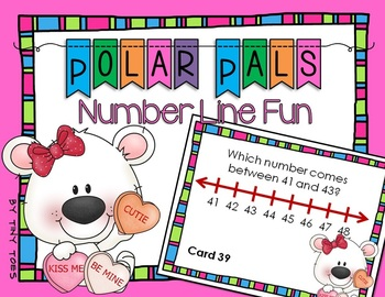 SCOOT Polar Pals Number Line- Valentine's - Find the Numbe