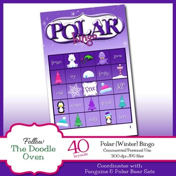 Winter Bingo - Polar images and Winter Words