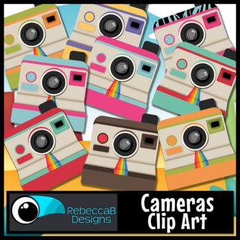 Camera Clip Art: Vintage, Retro - Cute Cameras for your Resources