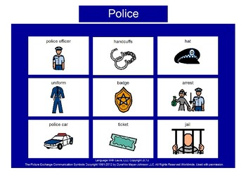 Police Bingo! [speech therapy and autism]
