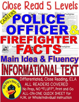Careers: Police Officer & Firefighter FACTS Main Idea Clos