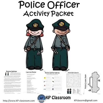 Police Officer No Prep Activity Packet and Worksheets
