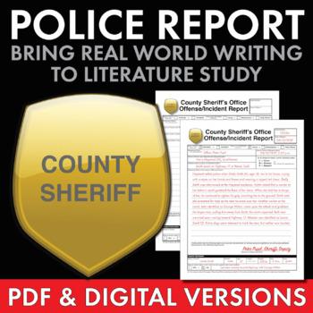 Police Report – Fun, Creative Real-World Writing Task to U