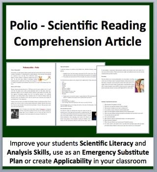 Poliomyelitis - Polio - Science Reading Comprehension