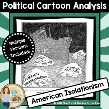 Political Cartoon Analysis Activity: American Isolationism
