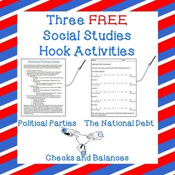 Three FREE Social Studies Hook Activities!