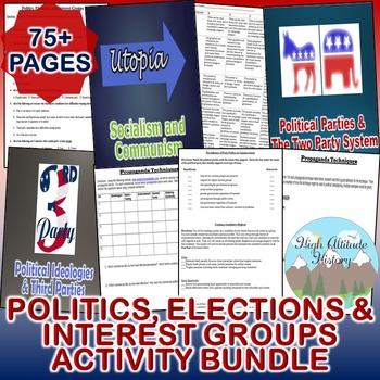Politics, Elections and Interest Groups Activity *Bundle*