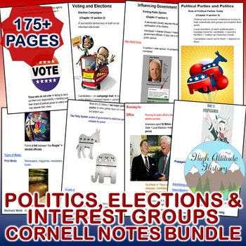 Politics, Elections and Interest Groups Cornell Notes *Bun