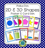Polka Dot Plane & Solid Shapes Poster Set (Math Geometry)