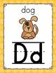 Polka Dot Alphabet Posters (Rainbow Big Dots)