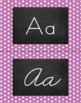 Polka Dot Alphabet Wall Cards Manuscript & Cursive - Light